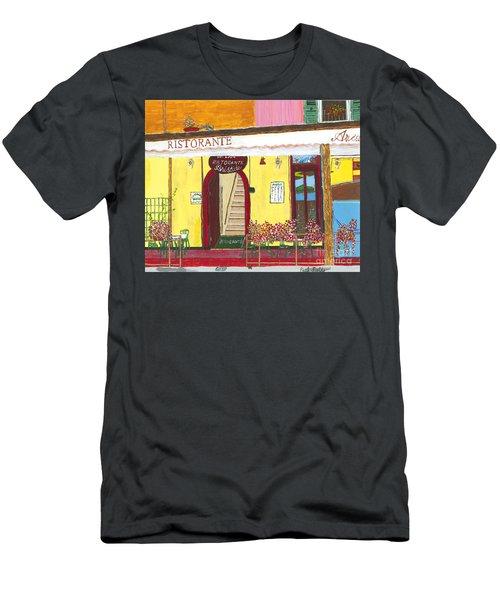 Aristede In Cinque Terra Men's T-Shirt (Athletic Fit)