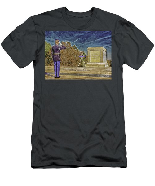 Arlington Cemetery Tomb Of The Unknowns Men's T-Shirt (Athletic Fit)