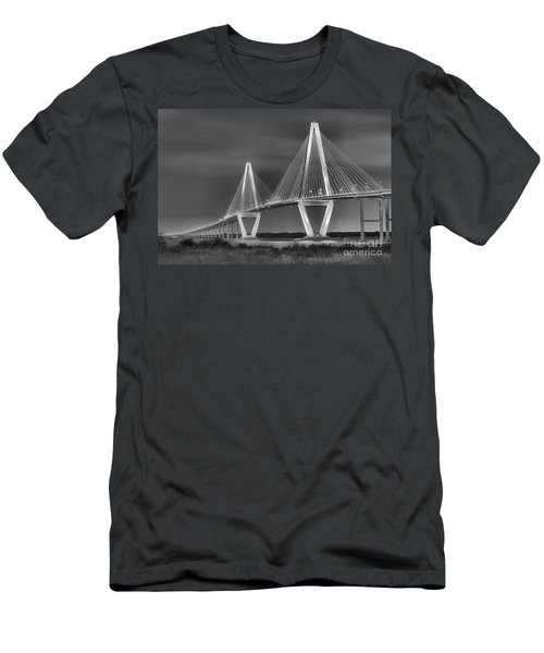 Arthur Ravenel Jr. Bridge In Black And White Men's T-Shirt (Athletic Fit)