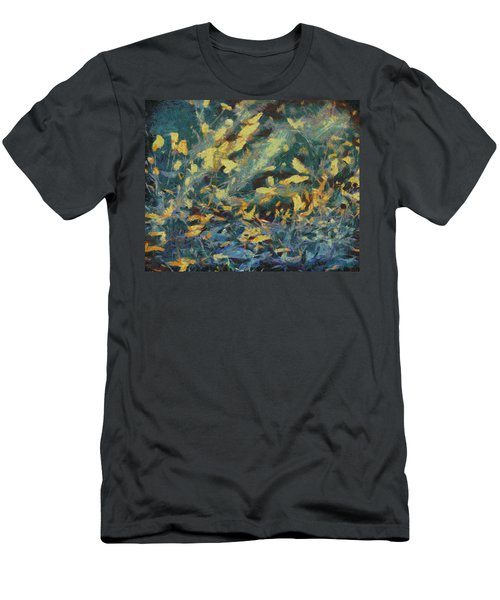 Men's T-Shirt (Slim Fit) featuring the painting As The Wind Blows by Joe Misrasi