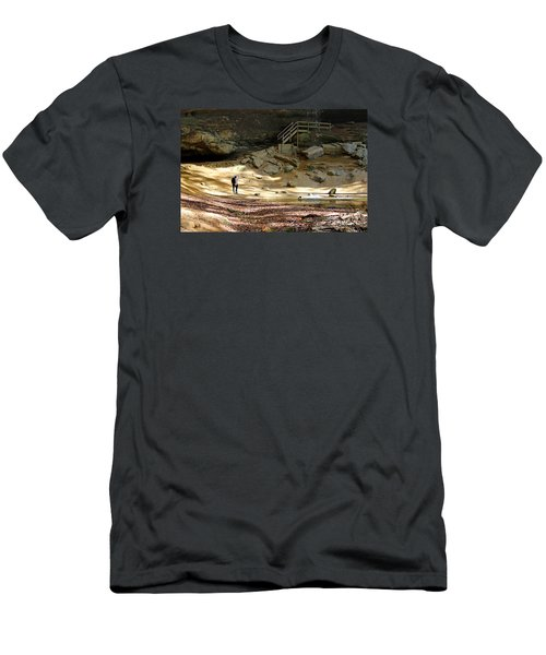 Ash Cave In Hocking Hills Men's T-Shirt (Athletic Fit)