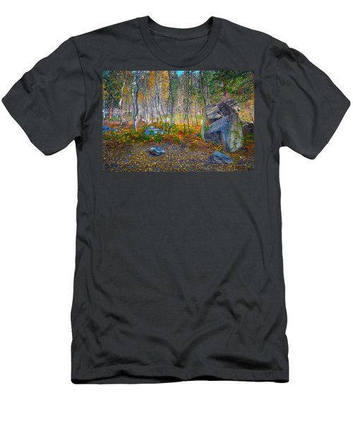Men's T-Shirt (Slim Fit) featuring the photograph Aspen Grove by Jim Thompson