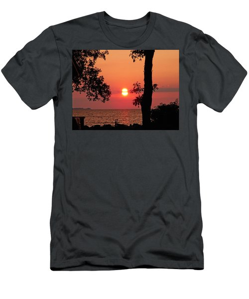 Men's T-Shirt (Slim Fit) featuring the photograph Association Island Sunset by Aimee L Maher Photography and Art Visit ALMGallerydotcom