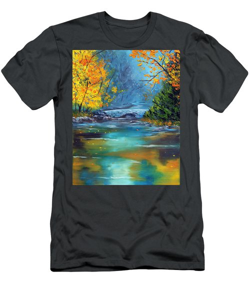 Men's T-Shirt (Slim Fit) featuring the painting Assurance by Meaghan Troup