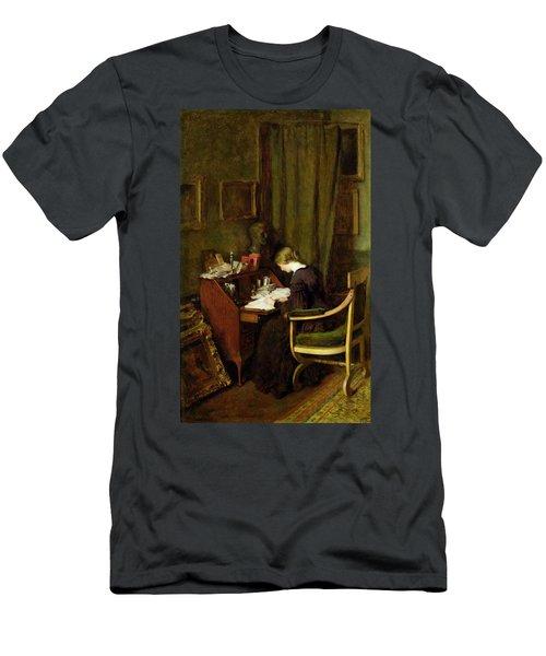 At Her Desk Men's T-Shirt (Athletic Fit)