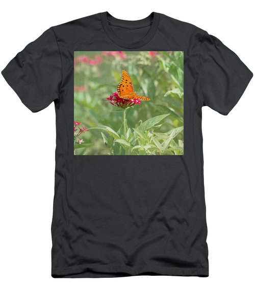 At Rest - Gulf Fritillary Butterfly Men's T-Shirt (Athletic Fit)