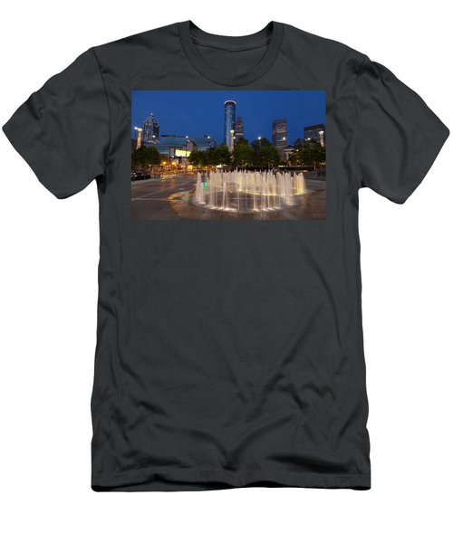 Atlanta By Night Men's T-Shirt (Athletic Fit)