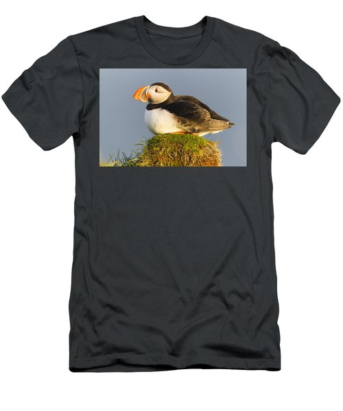 Men's T-Shirt (Athletic Fit) featuring the photograph Atlantic Puffin Iceland by Peer von Wahl