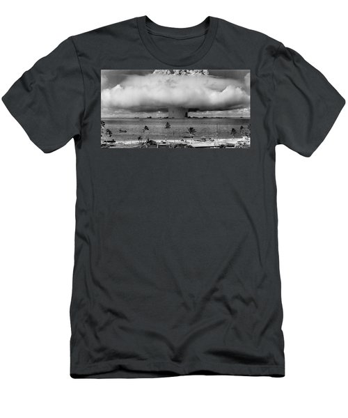 Atomic Bomb Test Men's T-Shirt (Athletic Fit)
