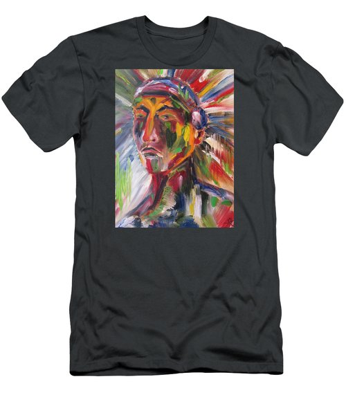 Atsila, Native American Men's T-Shirt (Athletic Fit)
