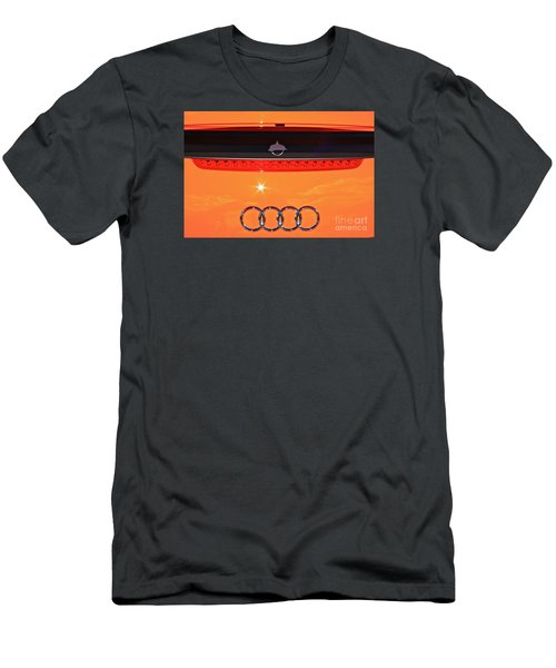 Men's T-Shirt (Slim Fit) featuring the photograph Audi Orange by Linda Bianic
