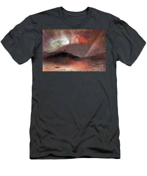 Aurora Borealis By Frederick Edwin Church Men's T-Shirt (Athletic Fit)