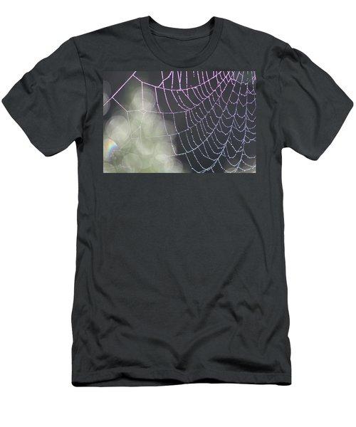 Men's T-Shirt (Slim Fit) featuring the photograph Aurora's Web by Cathie Douglas