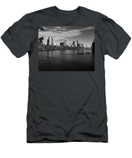 Austin Skyline Bw Men's T-Shirt (Athletic Fit)