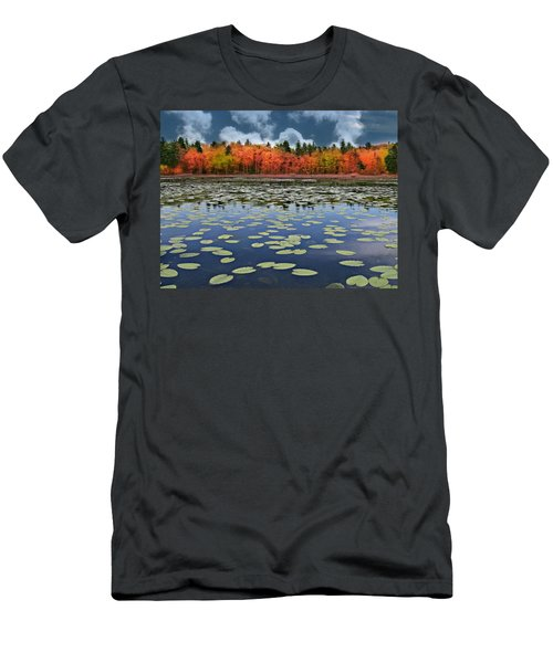 Autumn Across The Pond Men's T-Shirt (Athletic Fit)