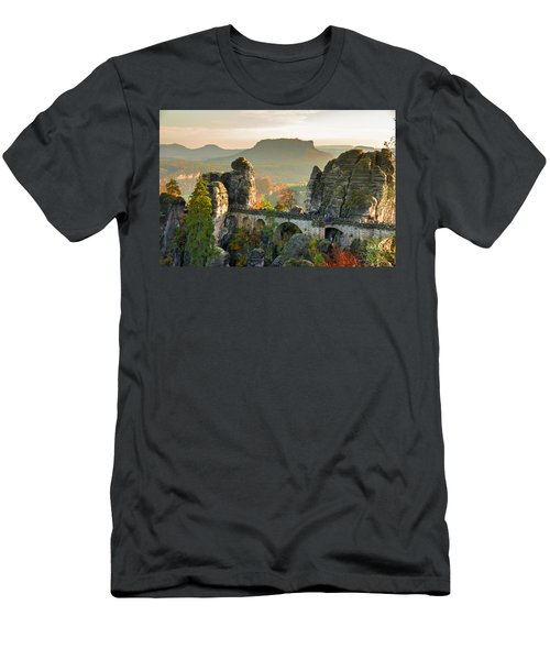 Autumn Afternoon On The Bastei Bridge Men's T-Shirt (Athletic Fit)