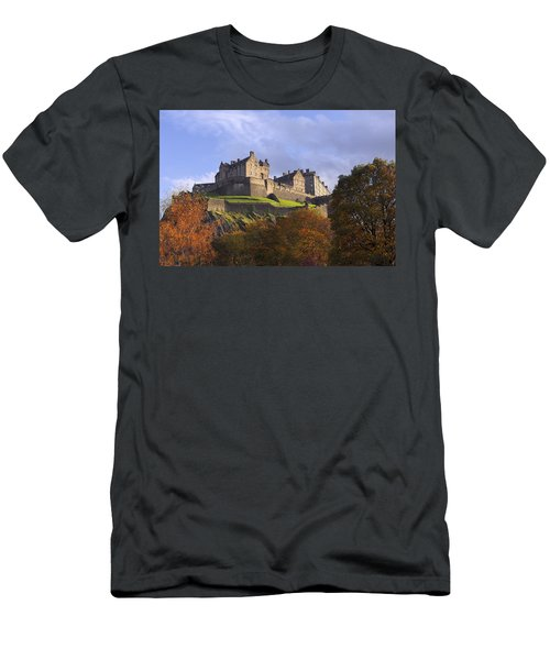 Autumn At Edinburgh Castle Men's T-Shirt (Athletic Fit)