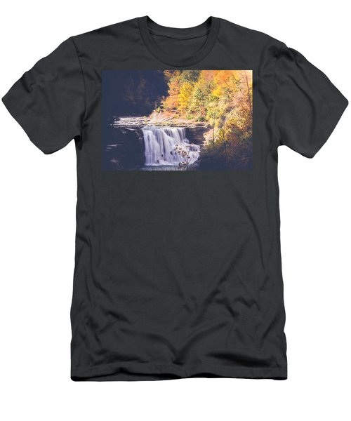 Autumn At Letchworth Men's T-Shirt (Slim Fit) by Sara Frank