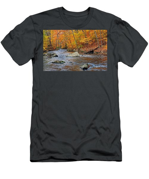 Autumn At The Black River Men's T-Shirt (Athletic Fit)