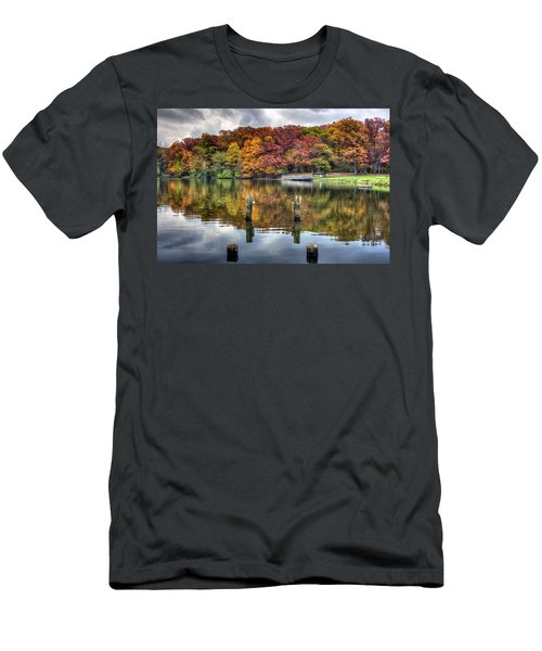 Autumn At The Pond Men's T-Shirt (Athletic Fit)