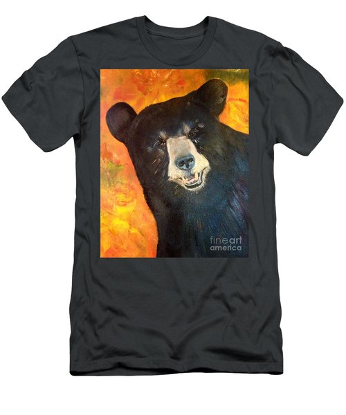 Autumn Bear Men's T-Shirt (Athletic Fit)
