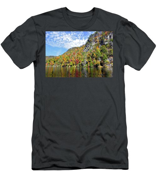 Autumn Colors On A Lake Men's T-Shirt (Athletic Fit)