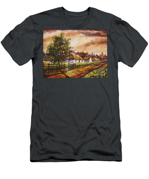 Autumn Cottages Men's T-Shirt (Athletic Fit)