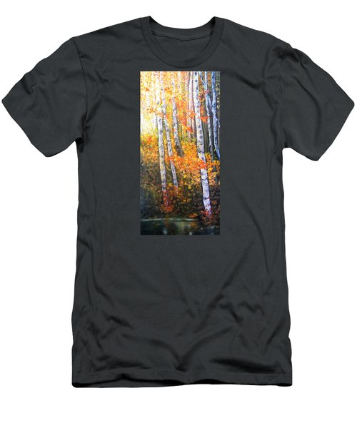 Autumn Glow Men's T-Shirt (Slim Fit) by Patti Gordon