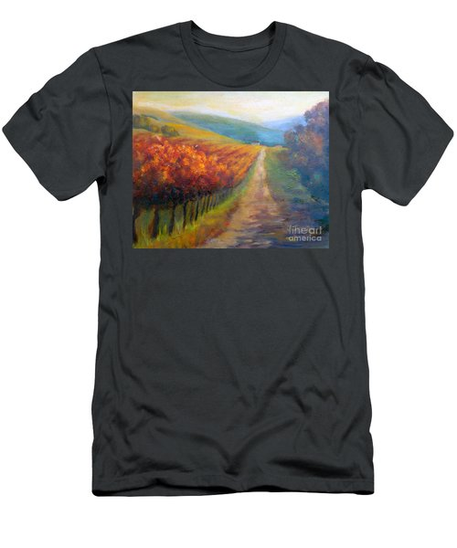 Autumn In The Vineyard Men's T-Shirt (Athletic Fit)