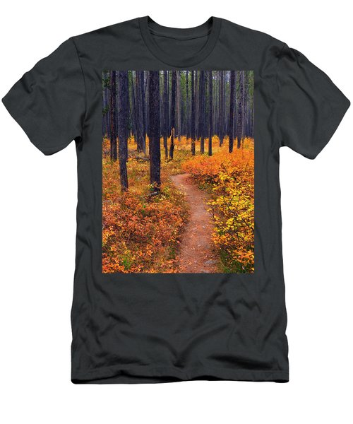 Men's T-Shirt (Slim Fit) featuring the photograph Autumn In Yellowstone by Raymond Salani III