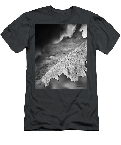 Autumn Leaves B And W Men's T-Shirt (Athletic Fit)