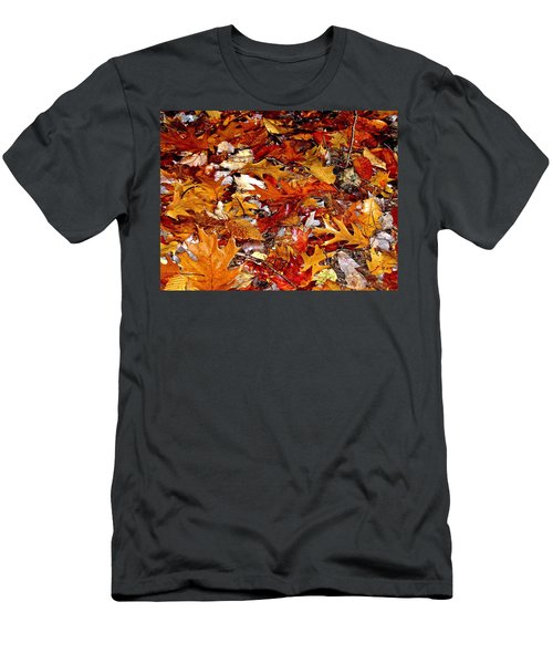 Autumn Leaves On The Ground In New Hampshire - Bright Colors Men's T-Shirt (Athletic Fit)
