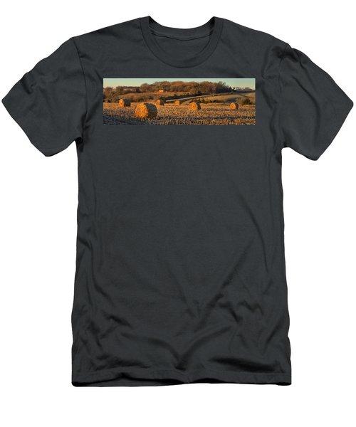 Autumn Morning Bales Men's T-Shirt (Athletic Fit)