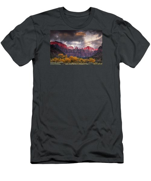 Men's T-Shirt (Slim Fit) featuring the photograph Autumn Morning In Zion by Andrew Soundarajan