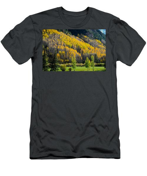 Autumn On The Links Men's T-Shirt (Athletic Fit)