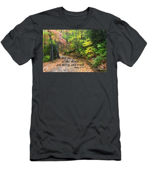 Autumn Path With Scripture Men's T-Shirt (Athletic Fit)