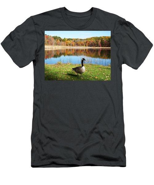 Autumn Pond Goose Men's T-Shirt (Athletic Fit)