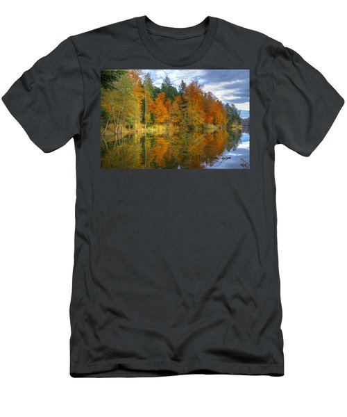 Autumn Reflection Men's T-Shirt (Athletic Fit)