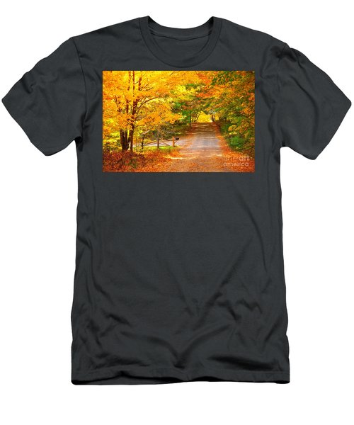 Autumn Road Home Men's T-Shirt (Athletic Fit)