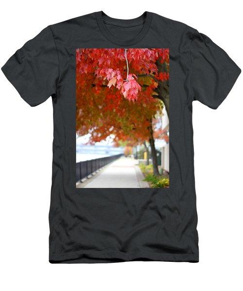 Autumn Sidewalk Men's T-Shirt (Athletic Fit)