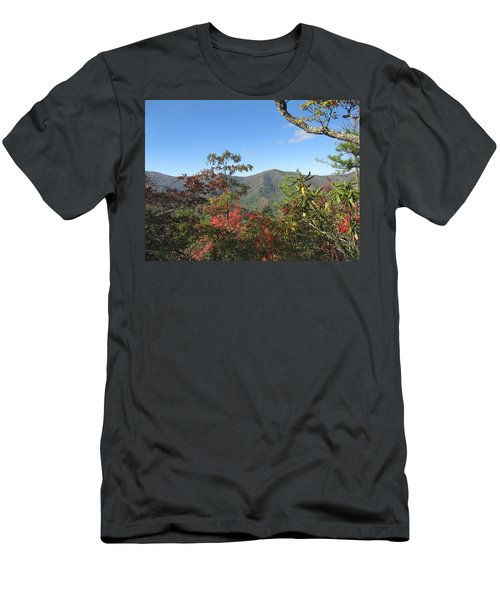 Autumn Smoky Mountains Men's T-Shirt (Slim Fit) by Melinda Fawver