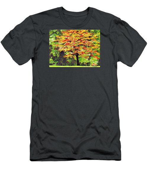 Autumn Splendor Men's T-Shirt (Slim Fit) by Patricia Griffin Brett