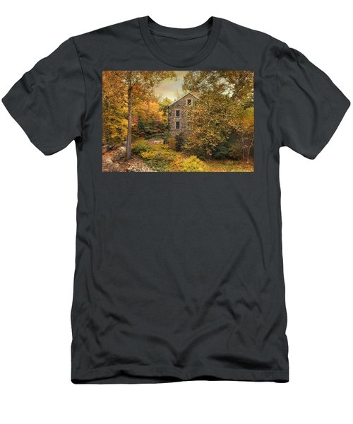 Autumn Stone Mill Men's T-Shirt (Athletic Fit)