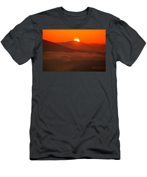 Autumn Sunrise On The Lilienstein Men's T-Shirt (Athletic Fit)