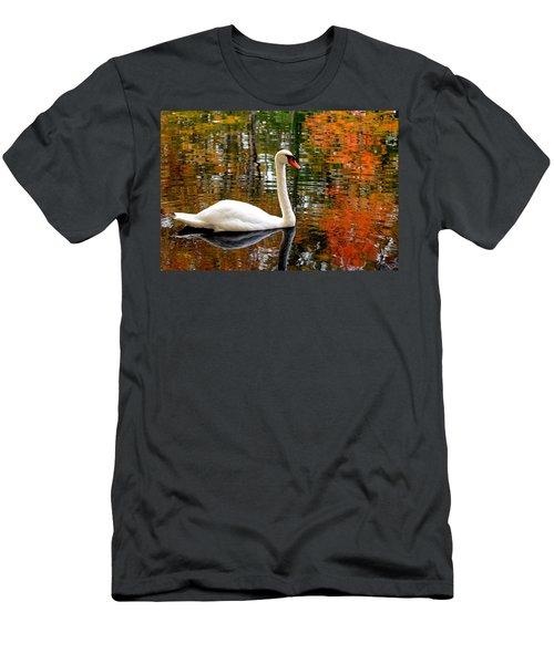 Autumn Swan Men's T-Shirt (Athletic Fit)