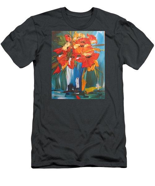 Autumn Vase Men's T-Shirt (Slim Fit) by Terri Einer