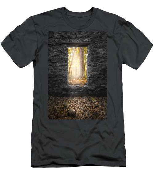 Autumn Within Long Pond Ironworks - Historical Ruins Men's T-Shirt (Athletic Fit)