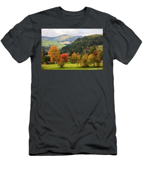 Autumnal Colours In Austria Men's T-Shirt (Athletic Fit)