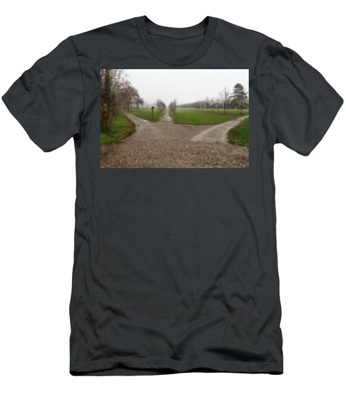 Autumnal Countryscape Men's T-Shirt (Athletic Fit)