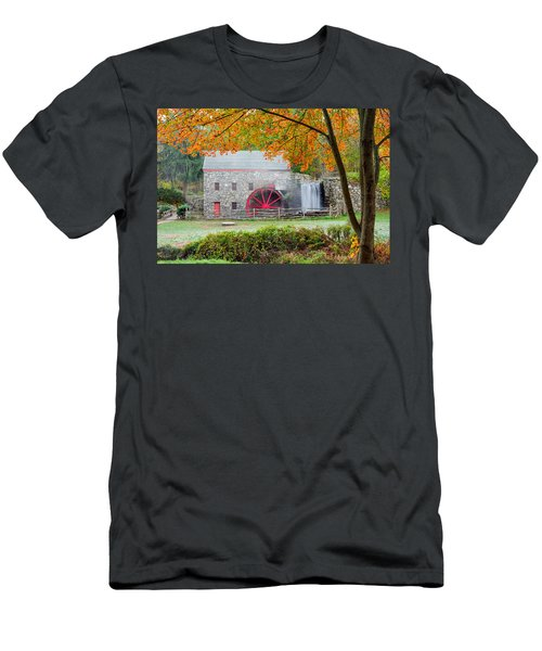 Auutmn At The Grist Mill Men's T-Shirt (Athletic Fit)